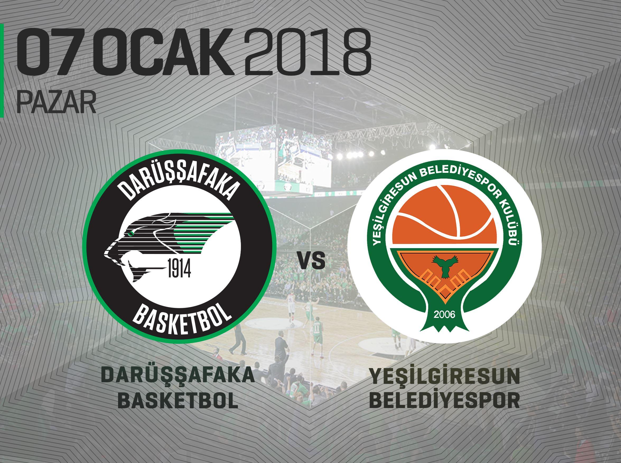 Darüşşafaka Basketbol – Yeşilgiresun Belediyespor