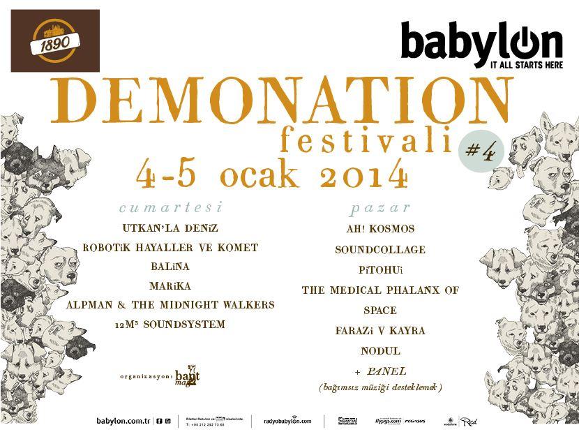 Demonation Festivali No:4 // 1. Gün