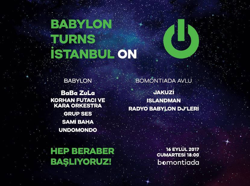 Babylon Turns İstanbul On